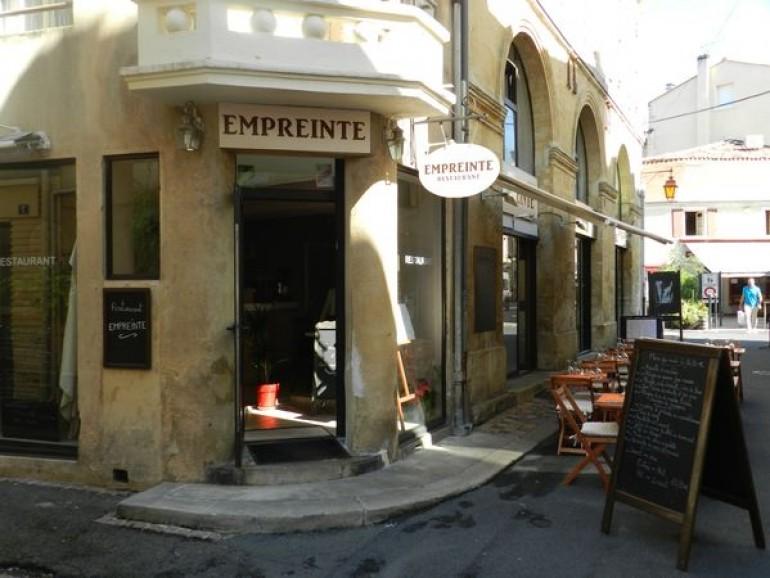 entrée restaurant empreinte Bergerac